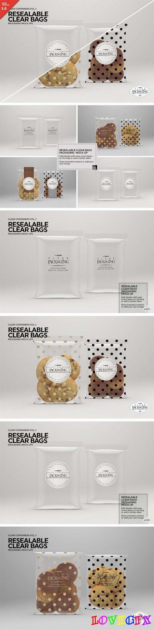 Clear Resealable Bags MockUp 2022770