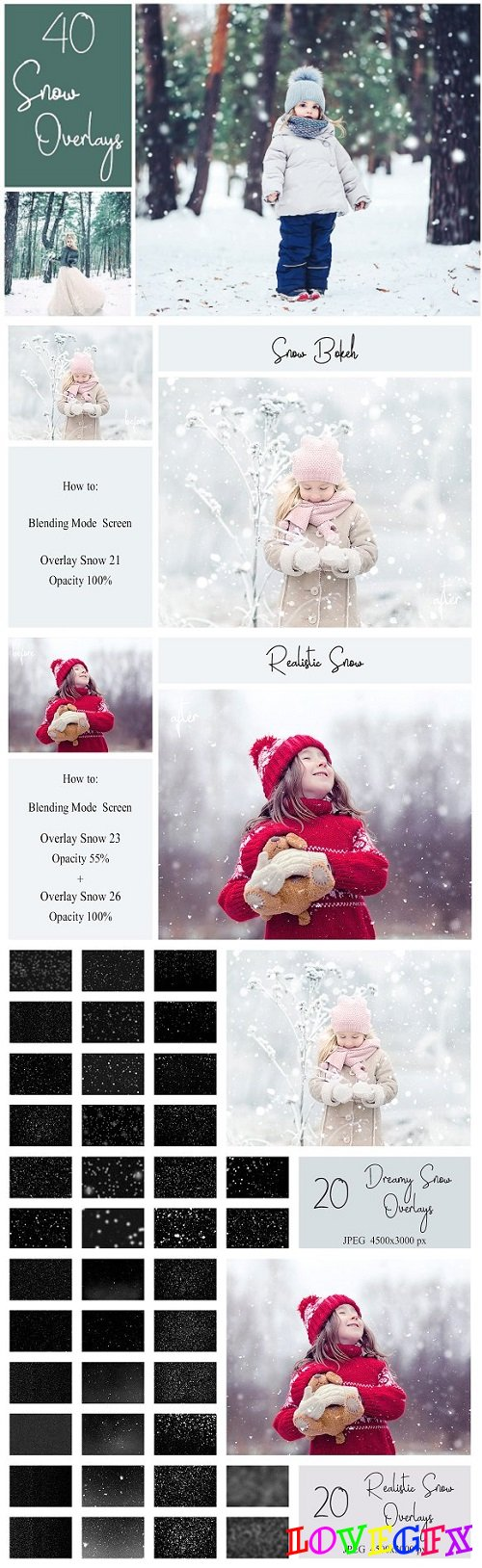40 Snow Overlays - 2052434
