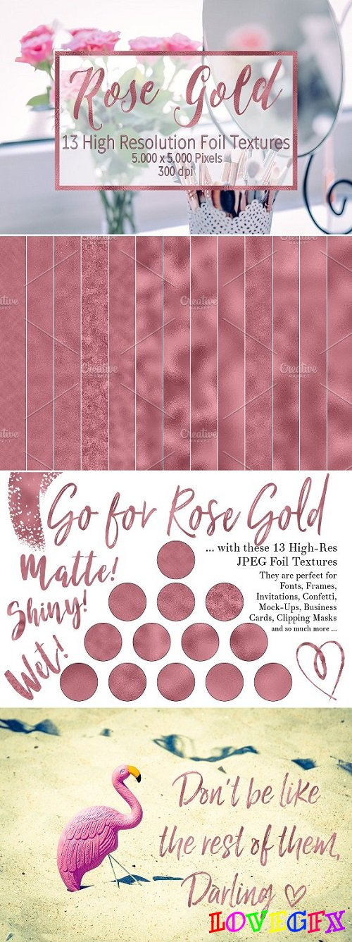 Dark Rose Gold Foil Textures 1309244