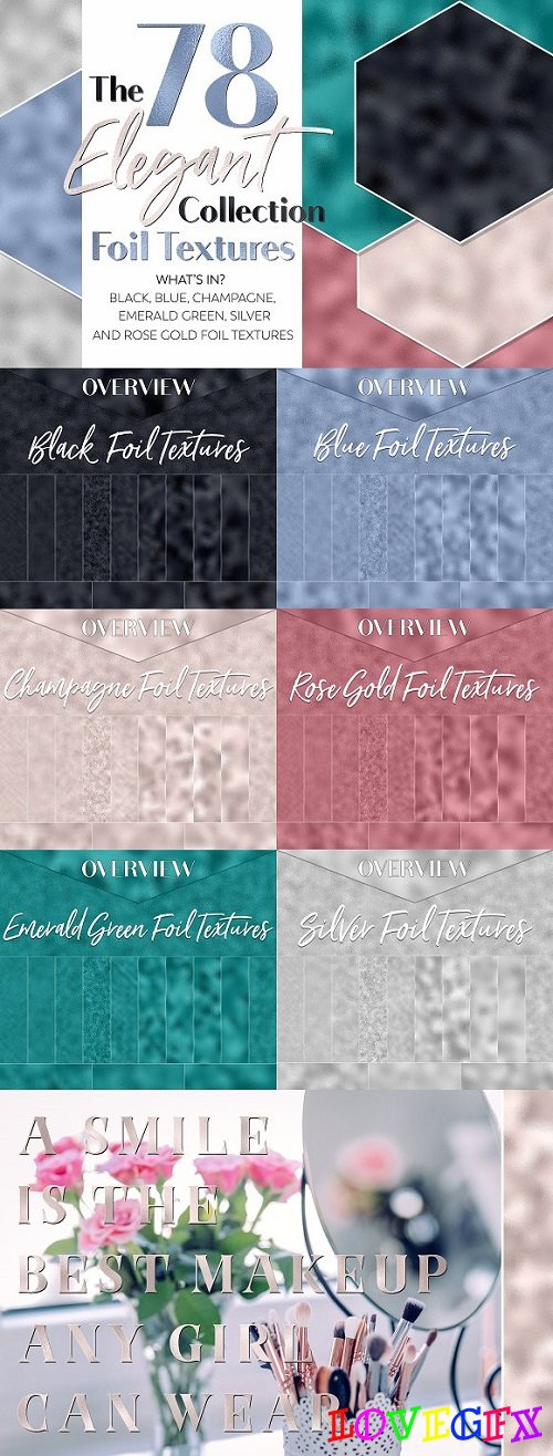 The Elegant Foil Textures Collection - 1309235