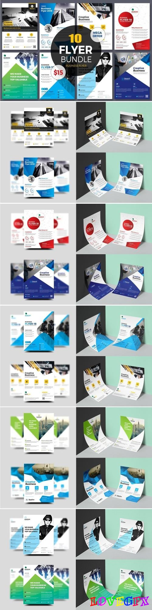 10 Business Flyer Bundle - 2113081