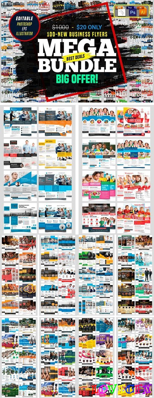100 Business Flyers Bundle 2148281