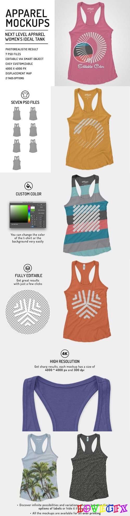 Women Ideal Racerback Tank Mockups 1957389