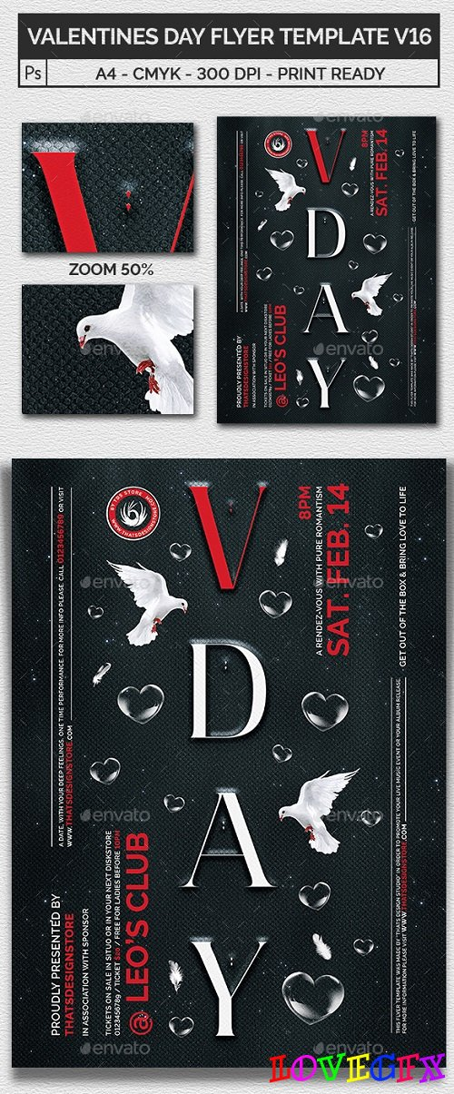 Valentines Day Flyer Template V16 21209913