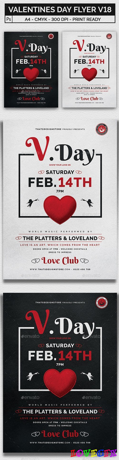 Valentines Day Flyer Template V18 21220461