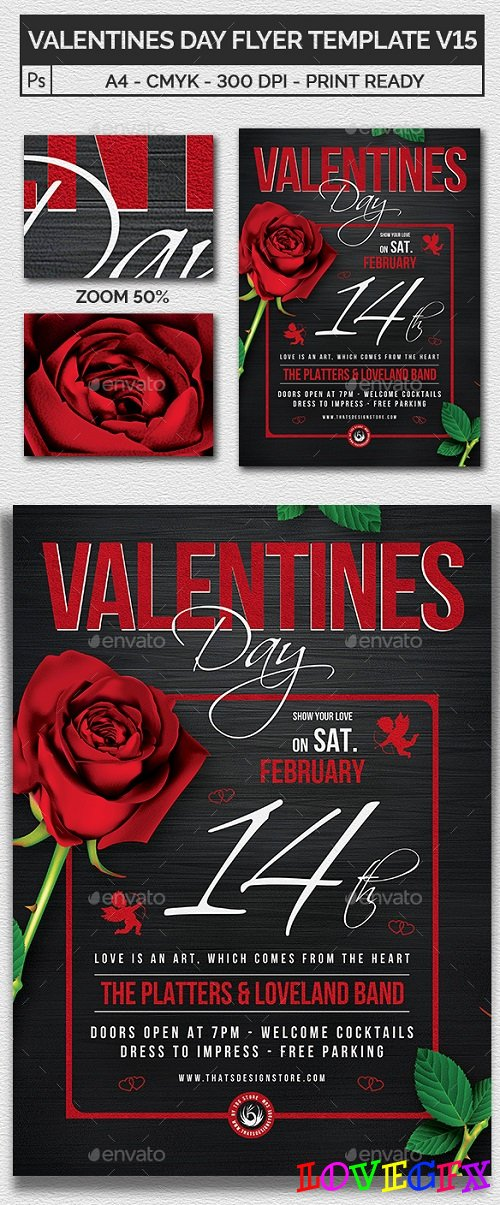 Valentines Day Flyer Template V15 - 21201848
