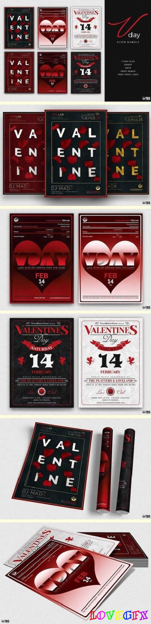 Valentines Day Flyer Bundle - 2142869