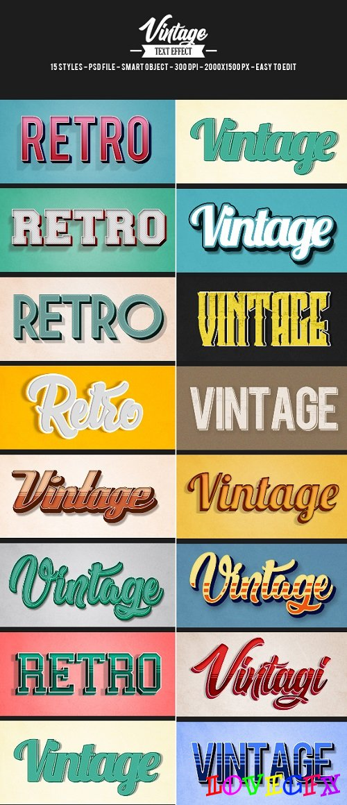 15 Retro Vintage Text Effects 21314565