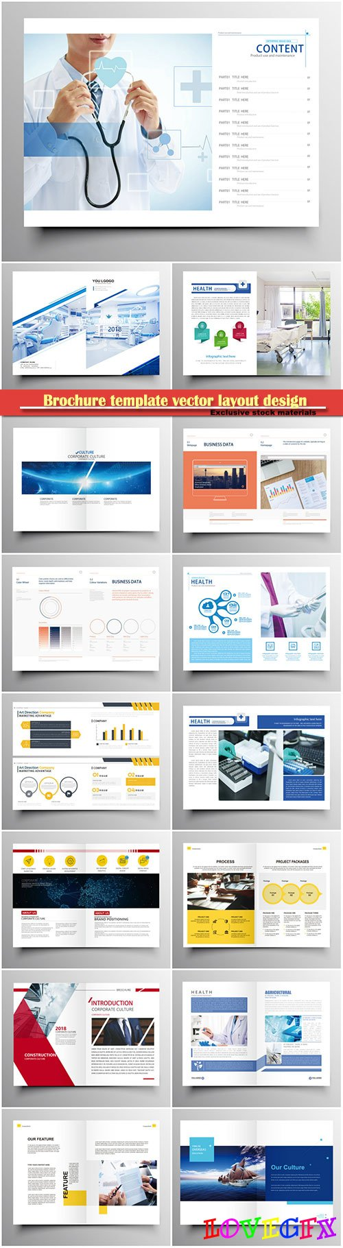 Brochure template vector layout design, corporate business annual report, magazine, flyer mockup # 126