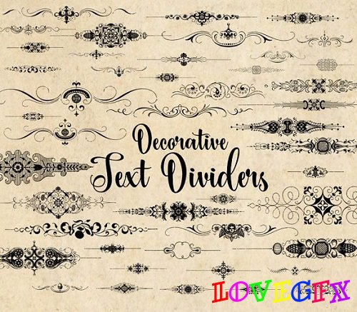 Decorative Text Dividers Clipart - 1371143