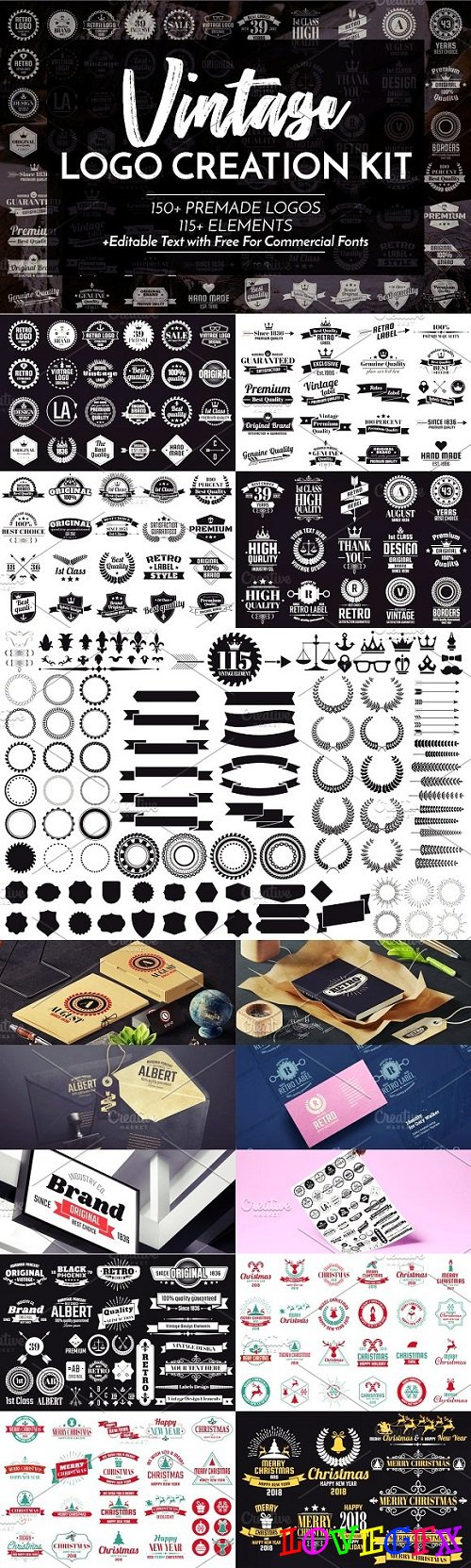 Vintage Logo Creation Kit 2023446