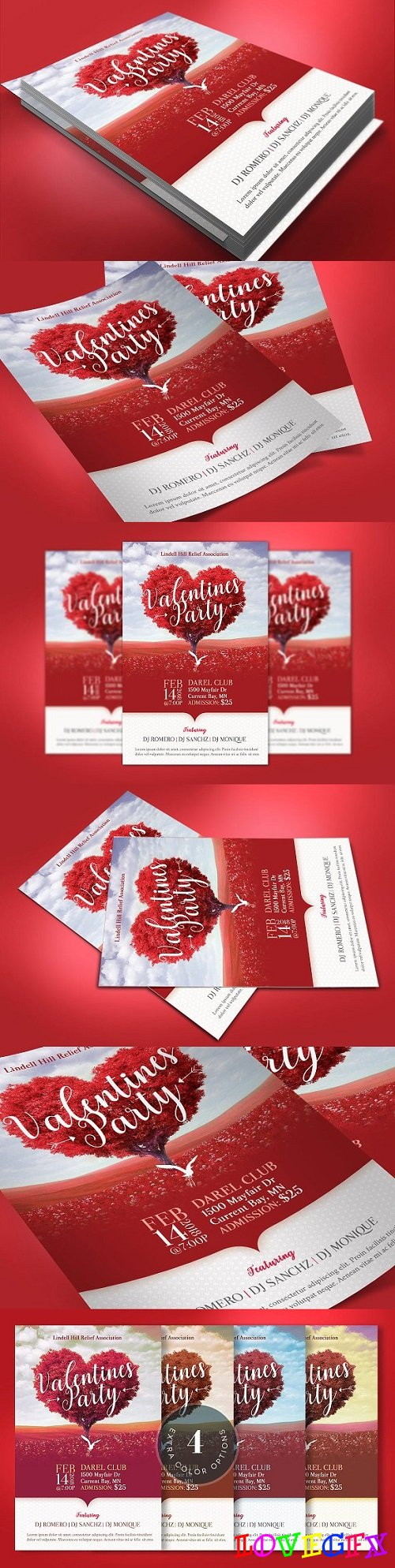 Tree Heart Valentines Party Flyer 2251320