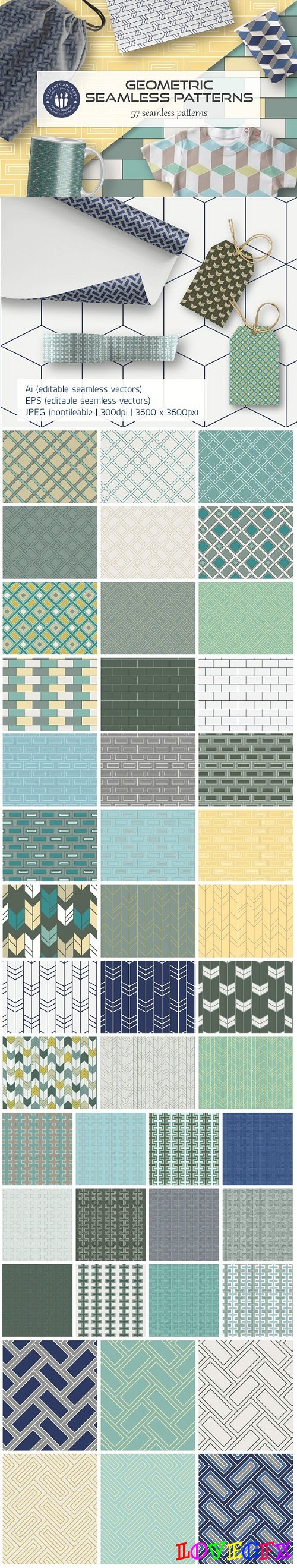 Seamless Geometric Patterns - 2295836