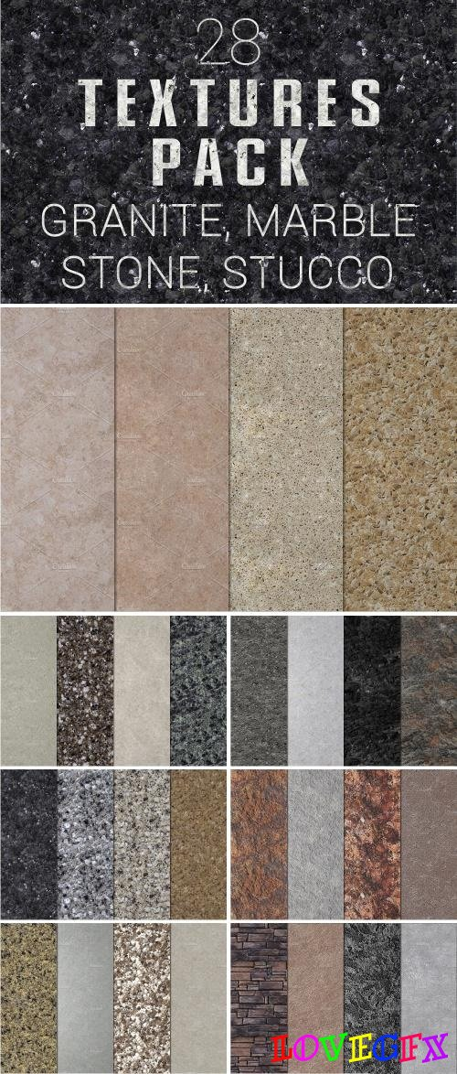 28 Textures Pack. Granite and more - 2271440