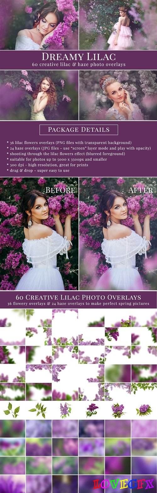 Dreamy Lilac photo overlays 2348731
