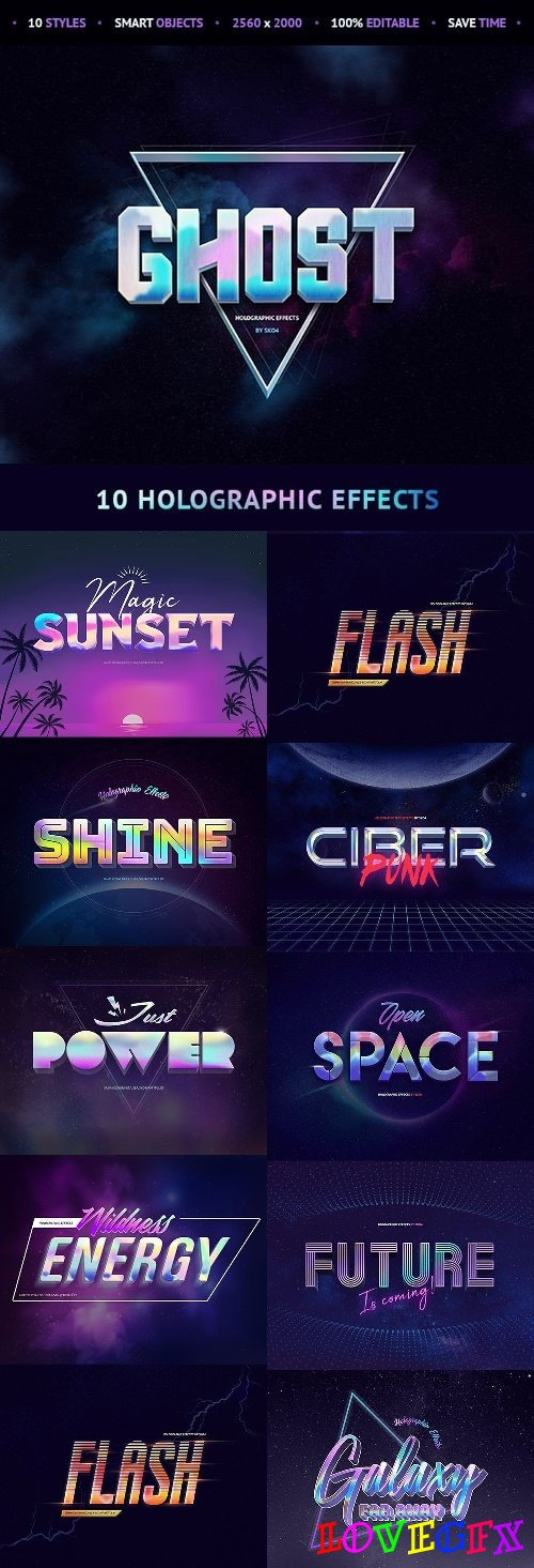 Holographic Effects - 10 PSD Mockups 21625296