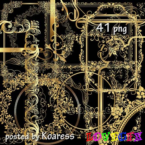 Photoframes png - Golden collection