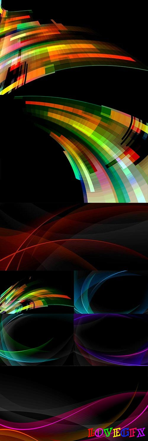 Abstract wave modern bright elegance background