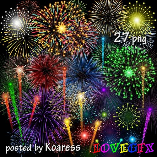 Clipart png - fireworks