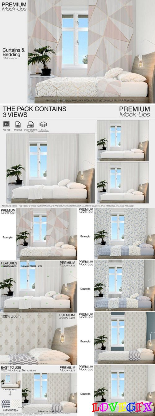 Curtains & Bedding Set 2396012