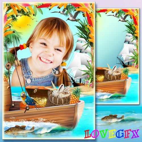 Frame for Photoshop - Tropical treasures