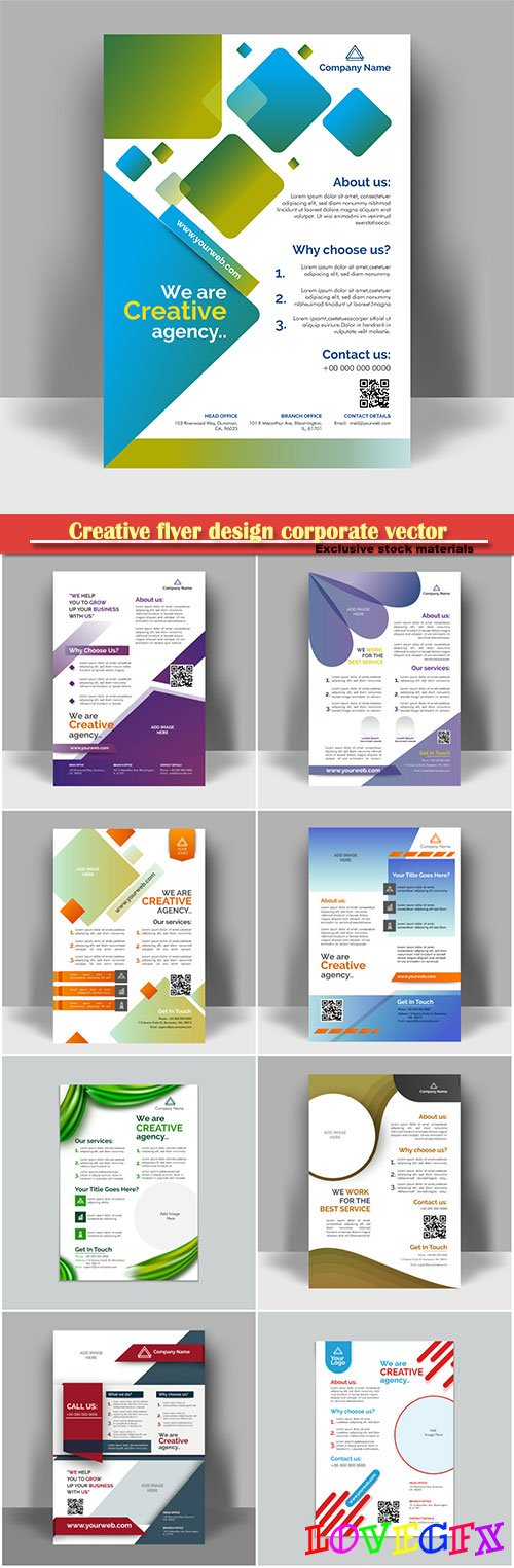 Creative flyer design corporate vector template layout presentation, business concept