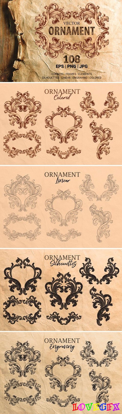 Ornament elements for decorate 2516715