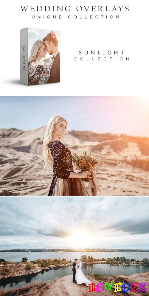 Wedding Overlays Sunlight Collection