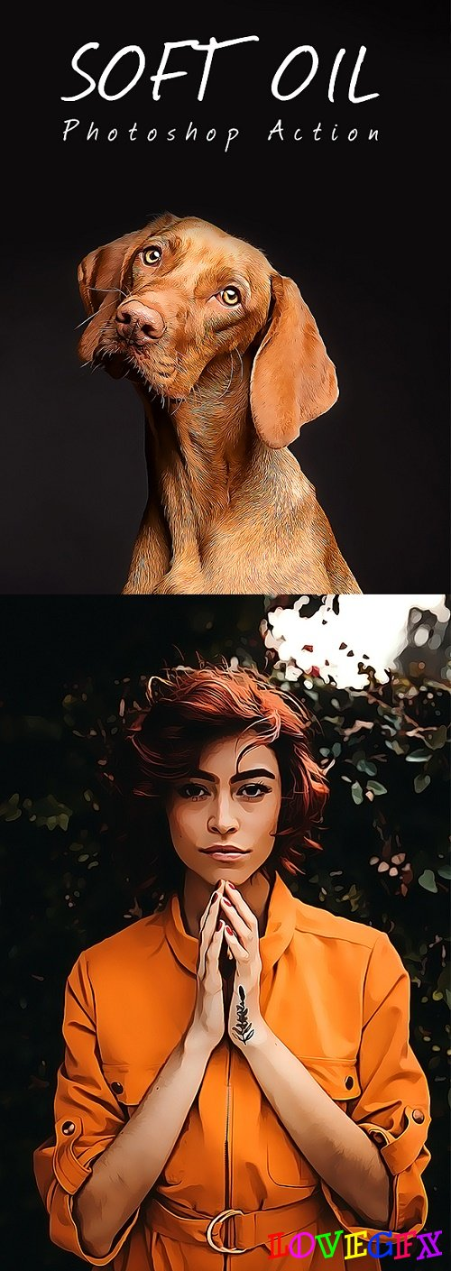 Soft Oil Paint Photoshop Action 22050944