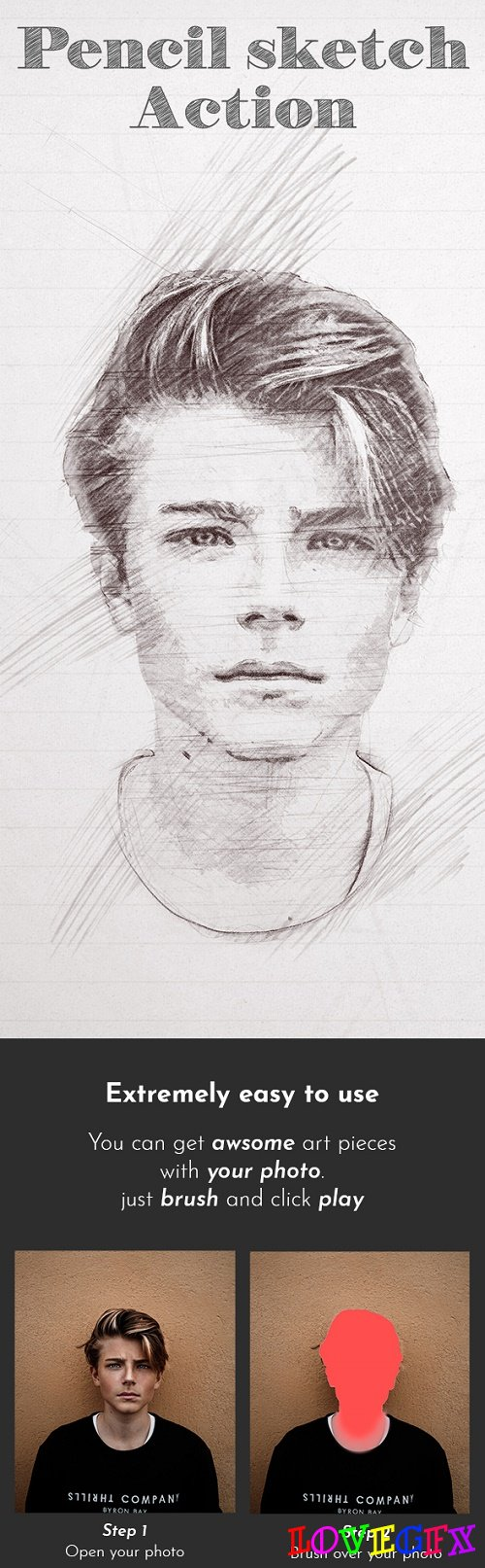 Pencil Sketch Photoshop Action 22055959