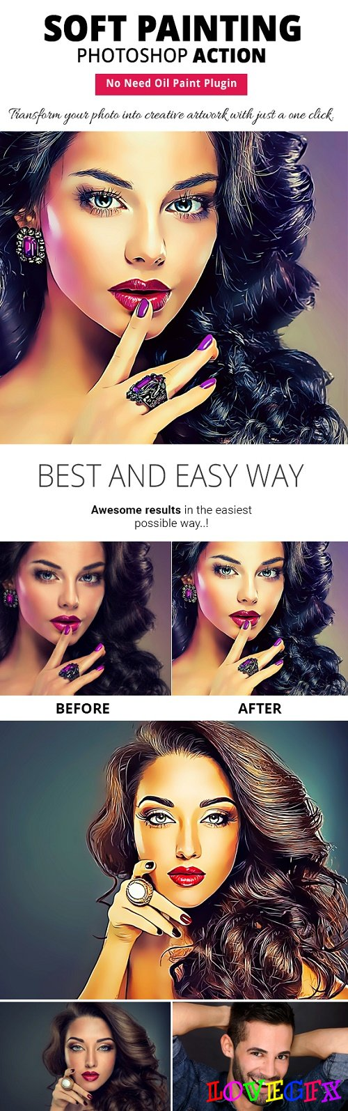Soft Painting Photoshop Action - 22157385