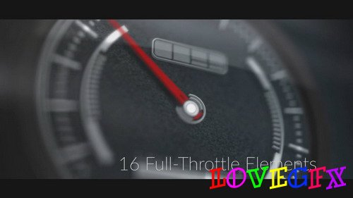 Dynamic Car Gauges - After Effects Template