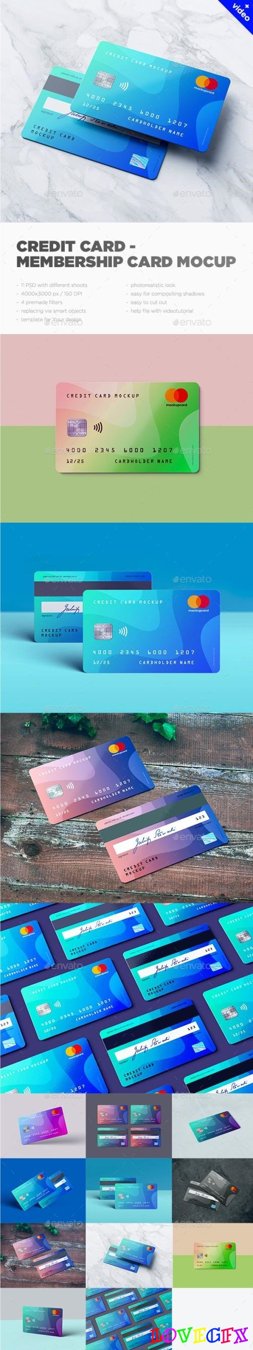 Credit Card / Membership Card MockUp - 22369086