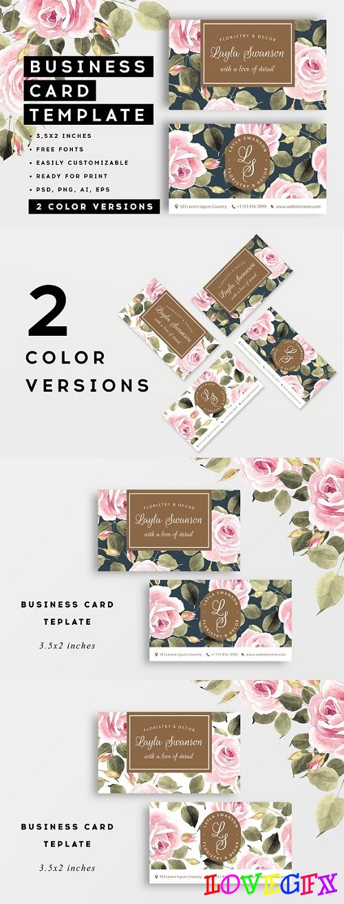 Roses � business card - 2758254