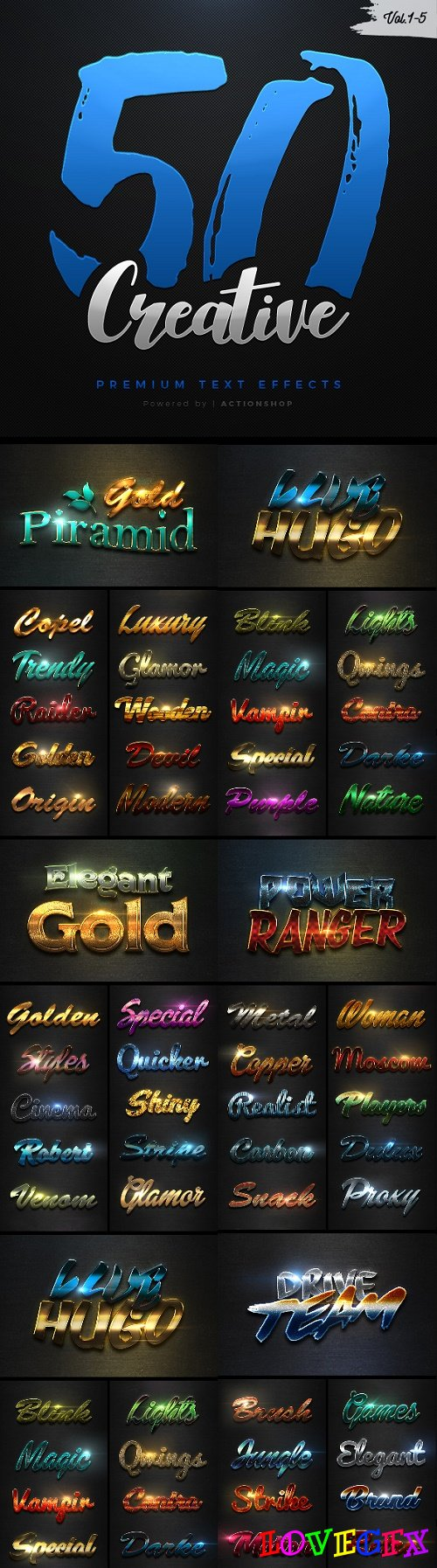 50 Creative Text Effects Bundle - 21197169