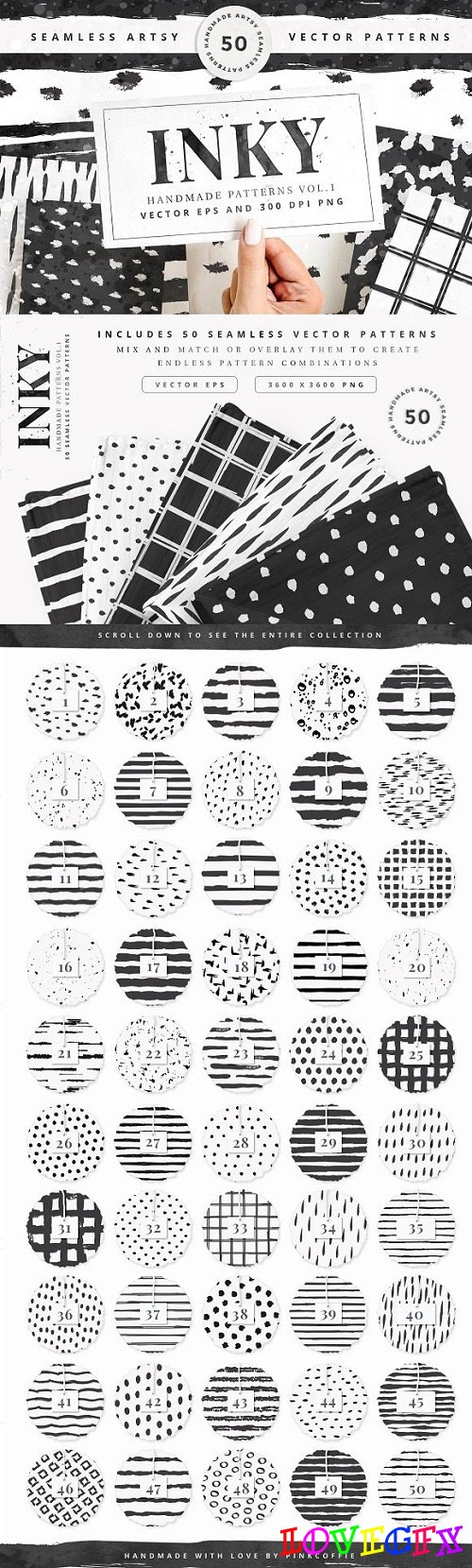 50 Seamless Vector Patterns Vol.1 - 2630219