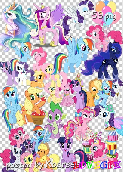 Clipart png for design - My little pony
