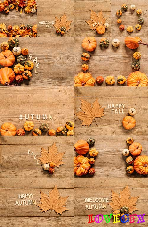 Autumn colors - 5 - Raster clipart