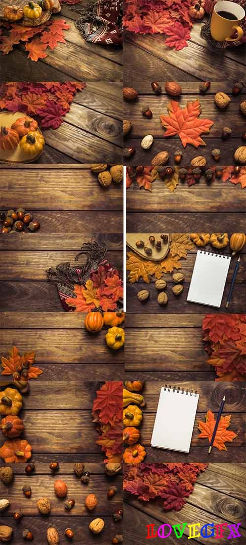 Autumn colors - 6 - Raster clipart