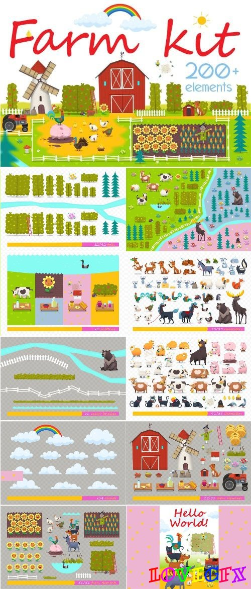 Huge Set of Farm Elements - 2930328