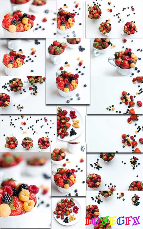 Berries - Raster clipart