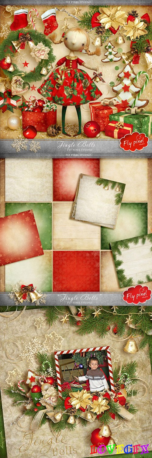 Christmas Scrap Kit - Jingle Bells