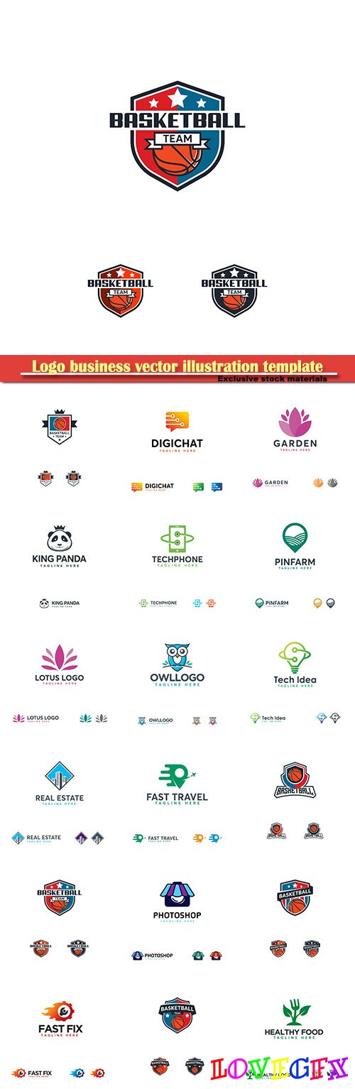 Logo business vector illustration template # 156