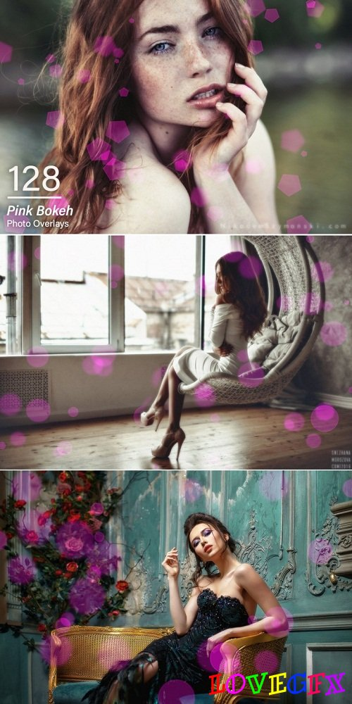 128 Pink Bokeh Photo Overlays 3479222