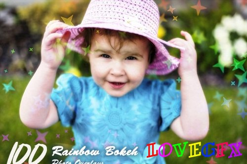 100 Rainbow Bokeh Overlays 3480429