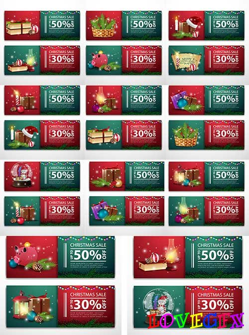 Christmas banners in vector - 3