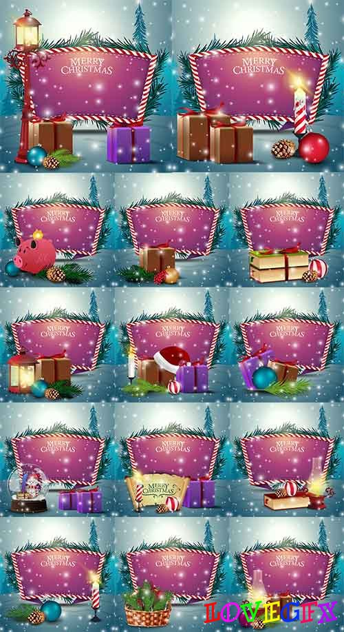 Christmas backgrounds -8 - Vector Graphics