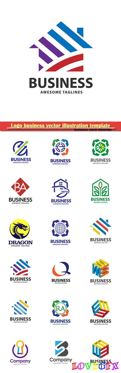 Logo business vector illustration template # 161