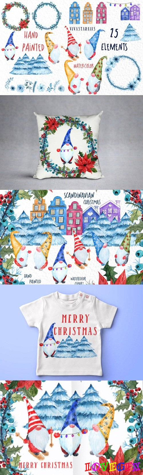Scandinavian Christmas Gnomes - 3128426