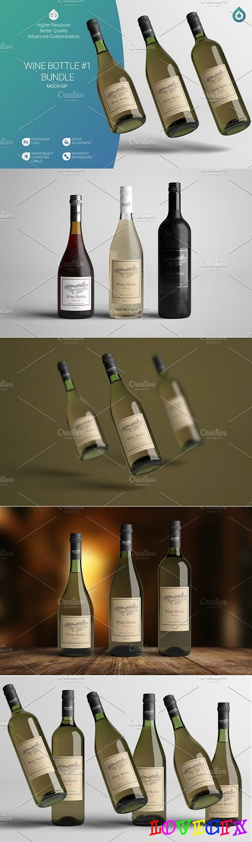 Wine Bottle Mock-Up B1 V2.0 3032807